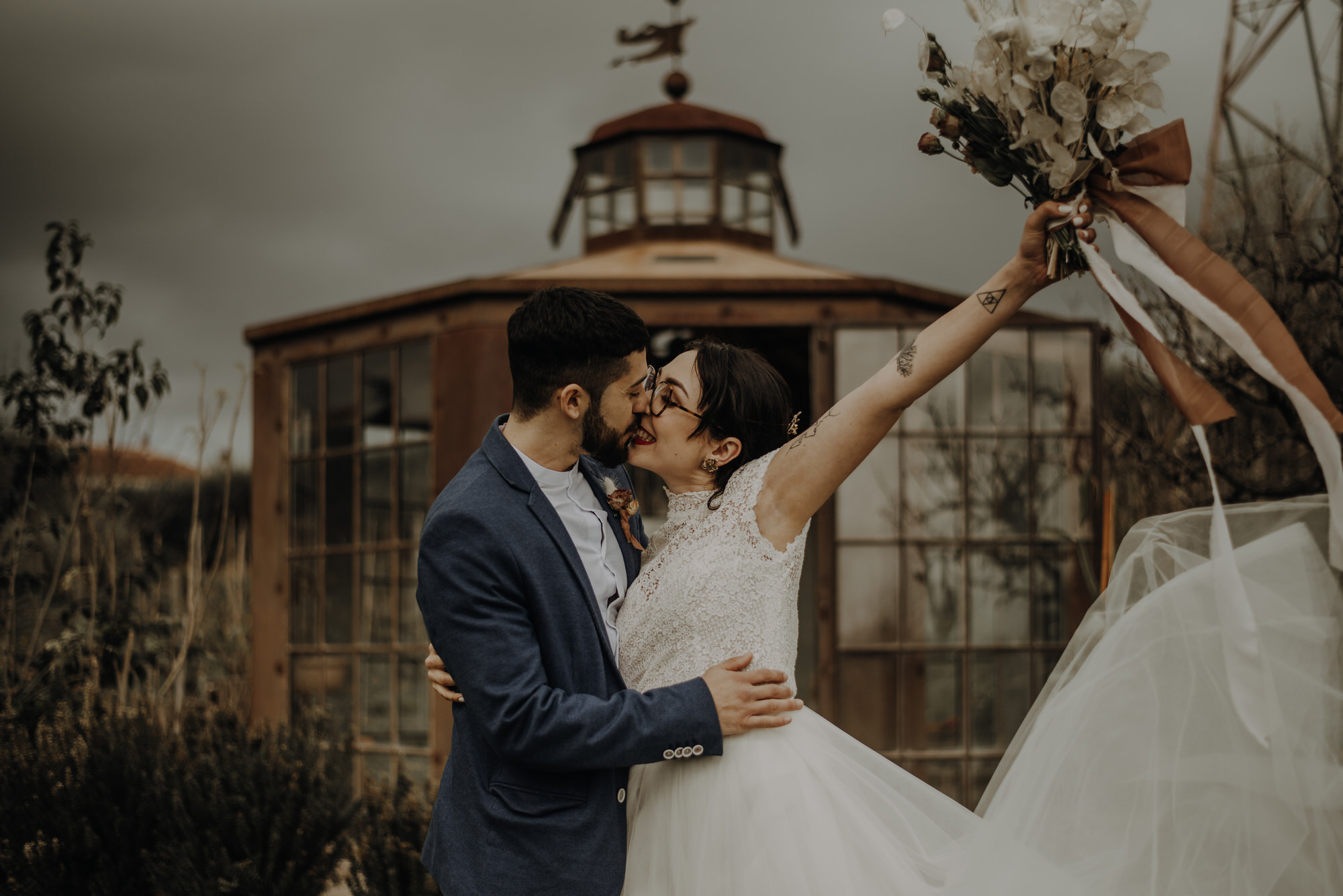 Anticipation of Spring, warm-toned styled elopement