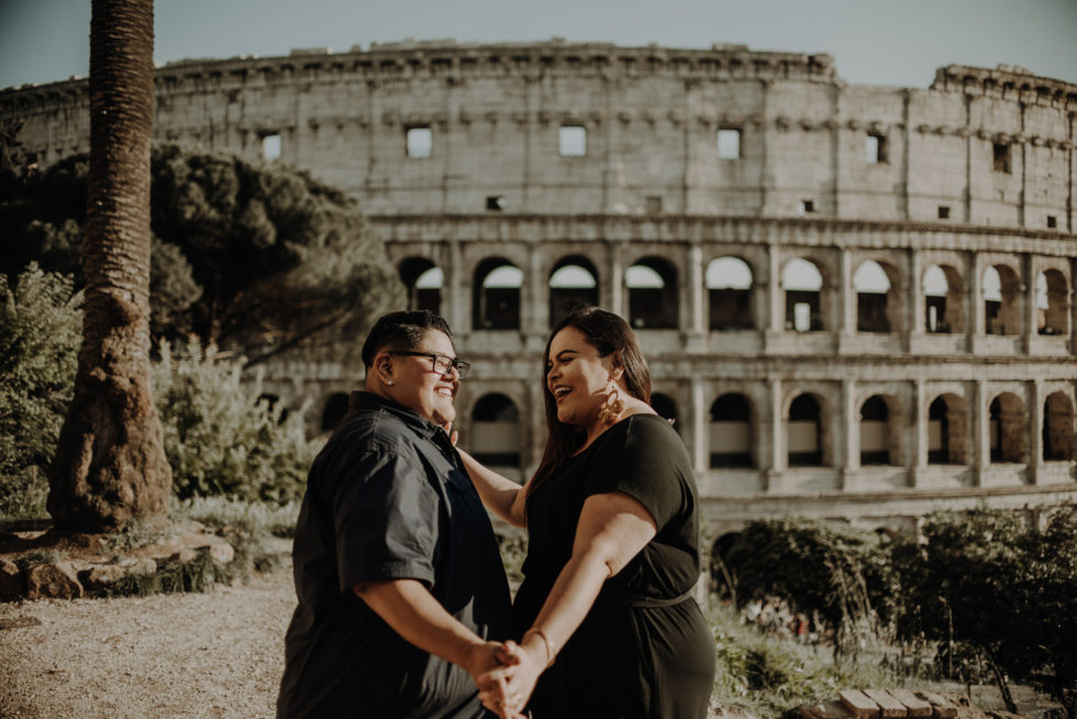 LGBTQ couple session at sunset in Rome